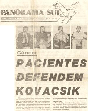Pacientes defendem Kovacsik