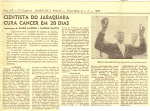 Cientista do jabaquara cura câncer em 20 dias