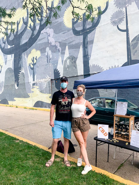 Rebecca and Steve vending at the Wilkinsburg Thursday Market in Pittsburgh