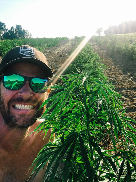The face you make when your hemp is growing big and strong