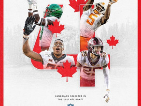 Record-tying 4 Canadians have their names called - 2021 NFL Draft