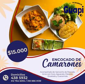 Enconcado de Camarones - Restaurante Guapi (Cali)