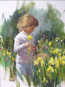 Taylor Picking Irises
