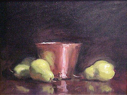 Pears with Copper Pot