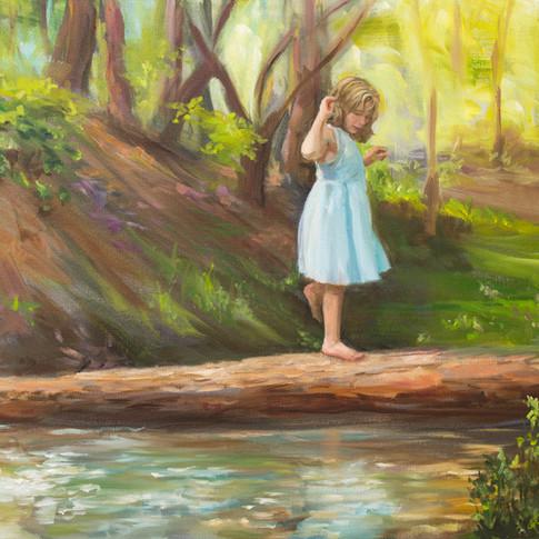 Ashley Crossing the Stream