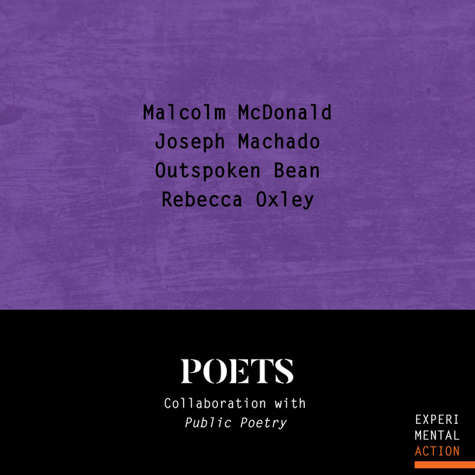 Public Poetry Collaborates with Experimental Action 2019