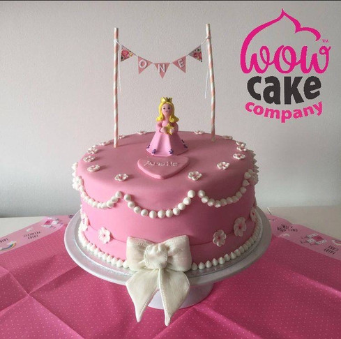 Wow Pink Birthday Cake