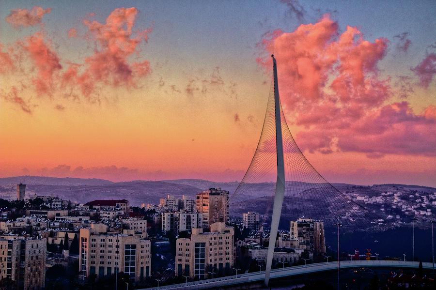 David's Harp bridge Jerusalem