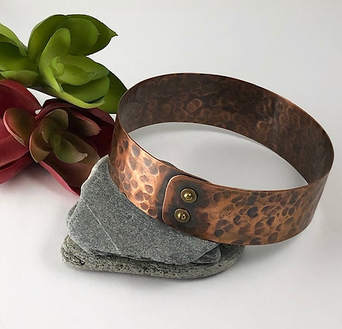Textured Copper Bangle