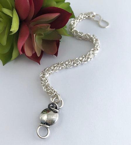 Byzantine Bracelet with Tiny Round Bead