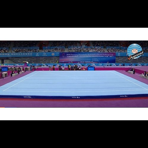 Suelo de gimnasia artística homologado por la FIG 1400CM X 1400CM Entrenamiento