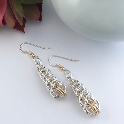 Tapered Persian Earrings with Gold Fill