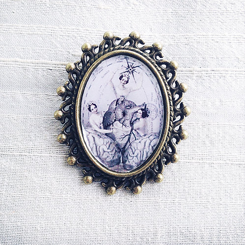 """HEART AND SOUL"" Brooch"