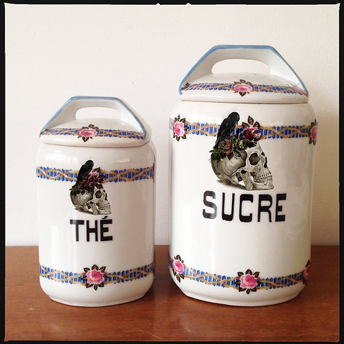 FRENCH CANISTER SET // 2 pieces