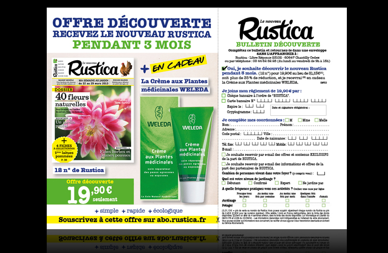 Encart Marketing Rustica