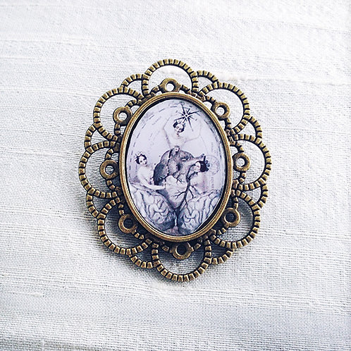 """""""HEART AND SOUL"""" Brooch"""