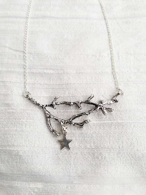 """HANGING STAR"" silver"