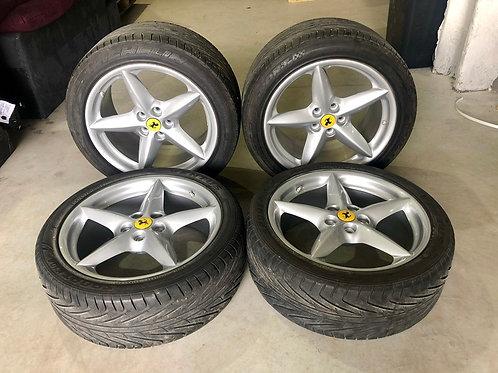 "Ferrari 360 MODENA SPIDER ALLOY WHEELS 18"" RIMS"