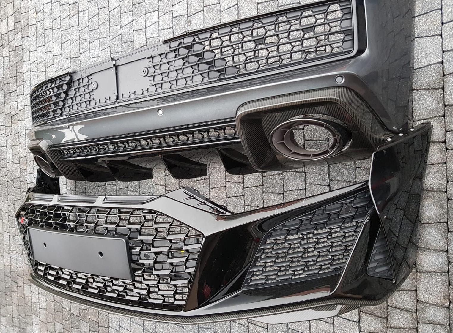 Audi R8 2019 Front bumper and rear bumper complete CF | Exotic Parts USA