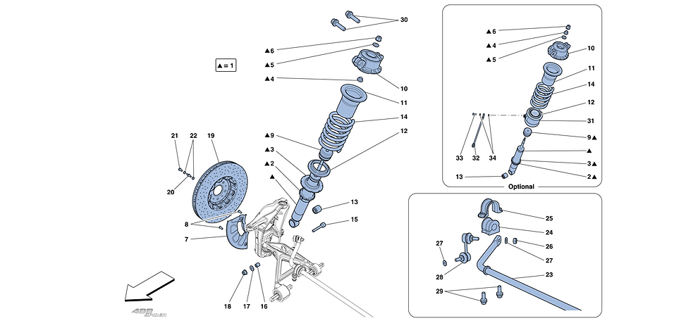 Front Suspension - Shock Absorber And Br