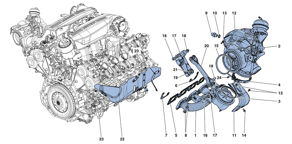 Manifolds, Turbocharging System And Pipe