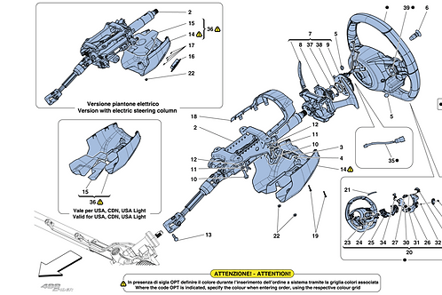 308063 COMPL. STEERING COLUMN -ELECTRIC VERSION-