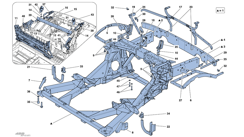 Chassis - Structure, Rear Elements And P