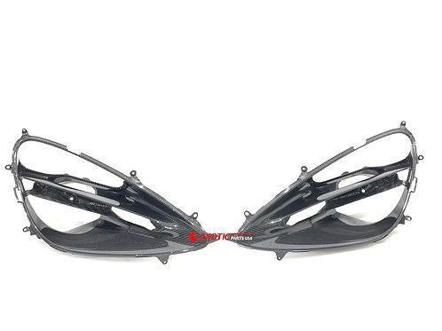 McLaren 720s carbon fiber headlight surround cover, Genuine oem part