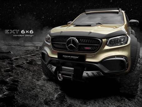 Six-Wheel Mercedes X-Class Set To Battle AMG-G63 6x6