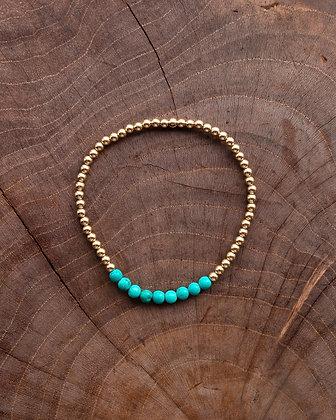 Turquoise Bar Gold Bracelet