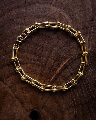 Chunky goldfilled chain bracelet