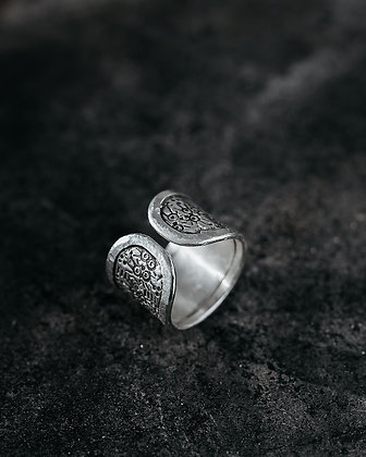 Hand Tooled Cuff Ring