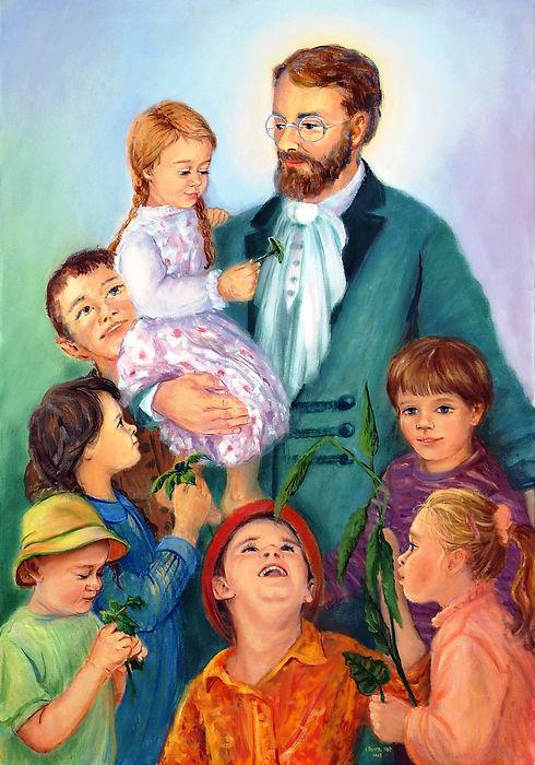 5. bł. Edmund z dziećmi - s.M. Dorota Kot, sł. starowiejska - 2009 r..jpg