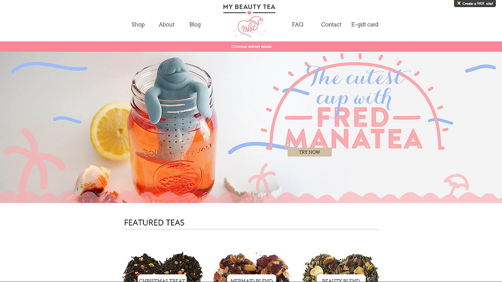 My Beauty Tea | APPME - 5 PAGE SITE + BLOG