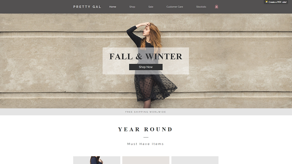 WOMANS | WIX - 5 PAGE SITE + ECOMMERCE