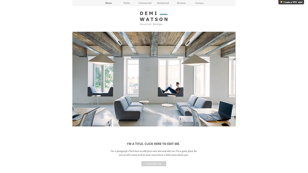 INTERIOR | WIX - 6 PAGE SITE