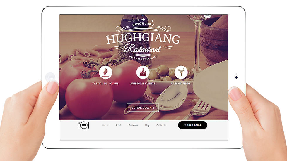 Hughgiang | APPME - 5 PAGE SITE + BLOG