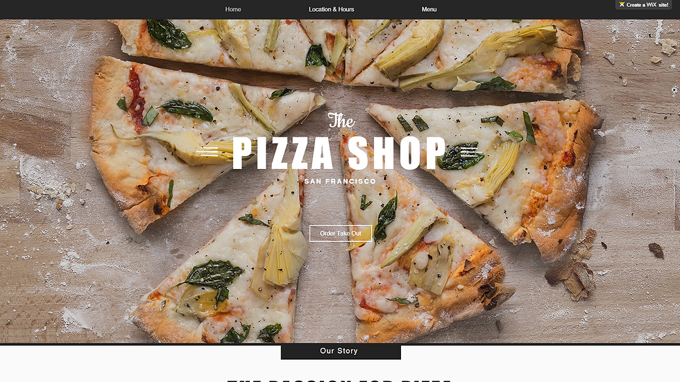 PIZZA | WIX - 4 PAGE SITE