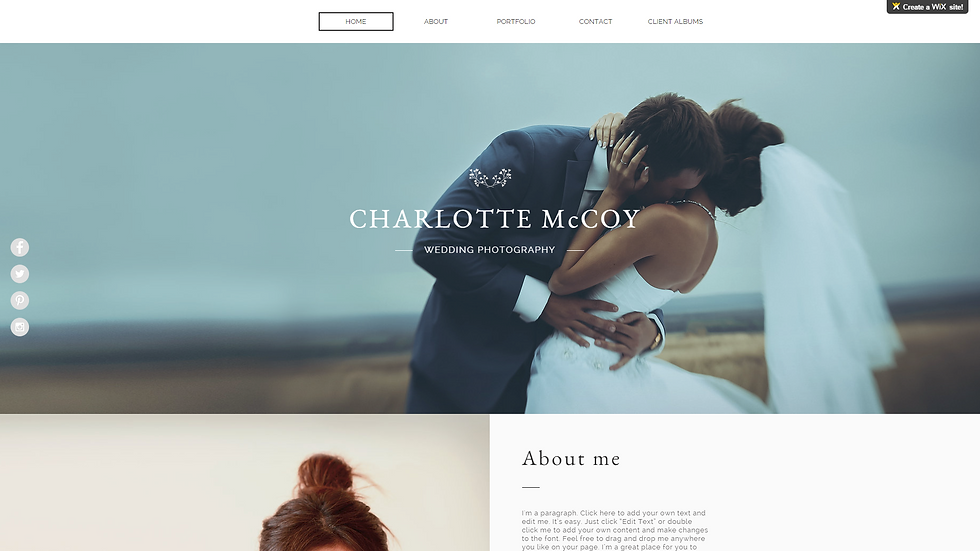 WEDDING | WIX - 5 PAGE SITE