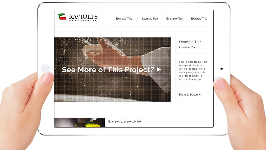 RAVIOLI'S | APPME - 5 PAGE SITE