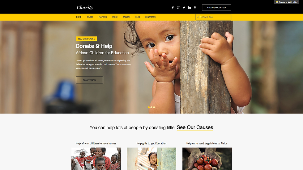 Charity | APPME - 5 PAGE SITE