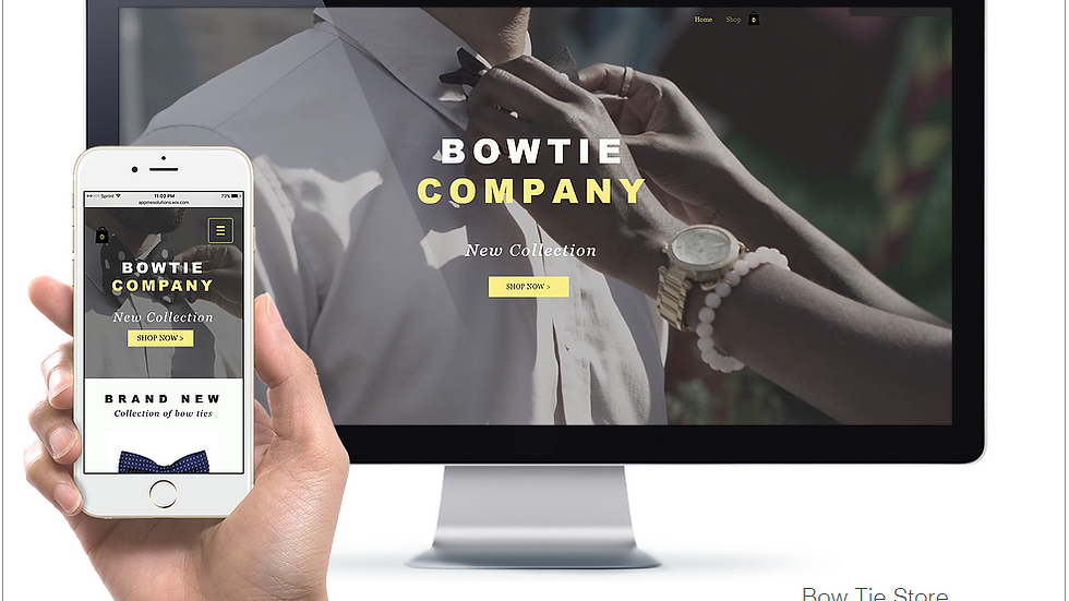 BOWTIE | WIX - 2 PAGE + ECOMMERCE