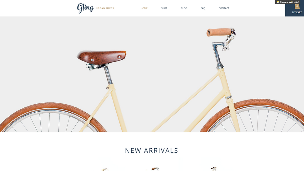 BICYCLE | WIX - 5 PAGE SITE + BLOG + ECOMMERCE
