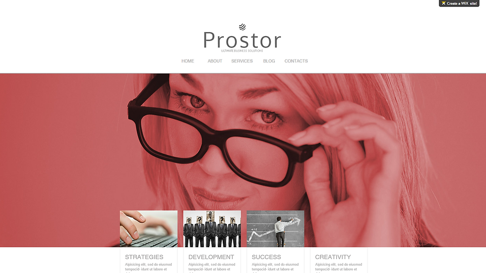 Prostor | APPME - 5 PAGE SITE + BLOG