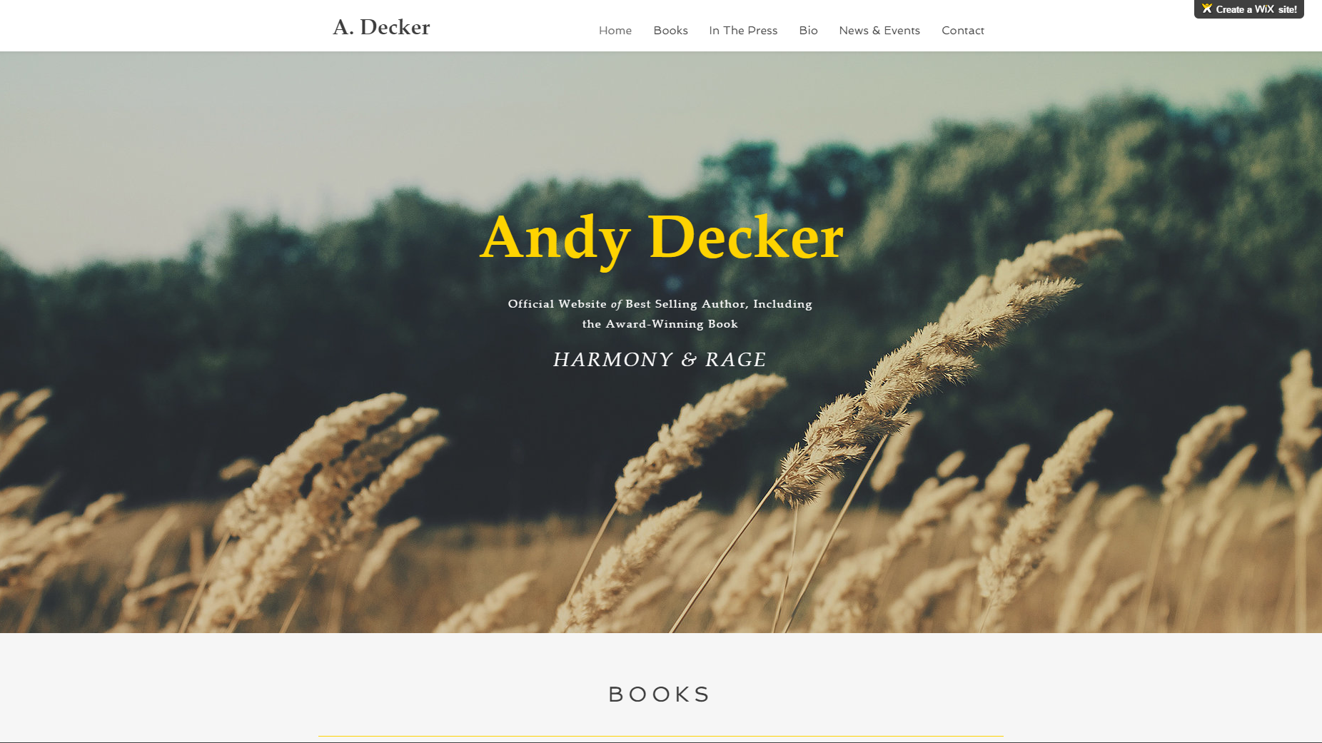 Author Wix 7 Page Site
