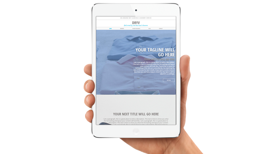 DRYV | APPME - 10 PAGE SITE + BLOG