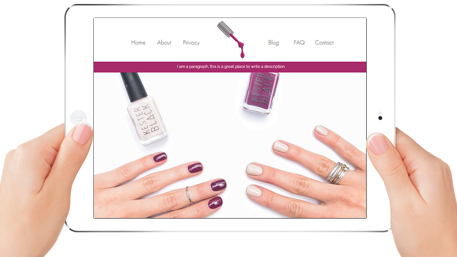 NAILS | APPME - 6 PAGE SITE + BLOG