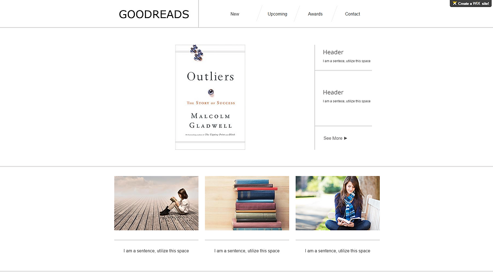 GOODREADS | APPME - 5 PAGE SITE