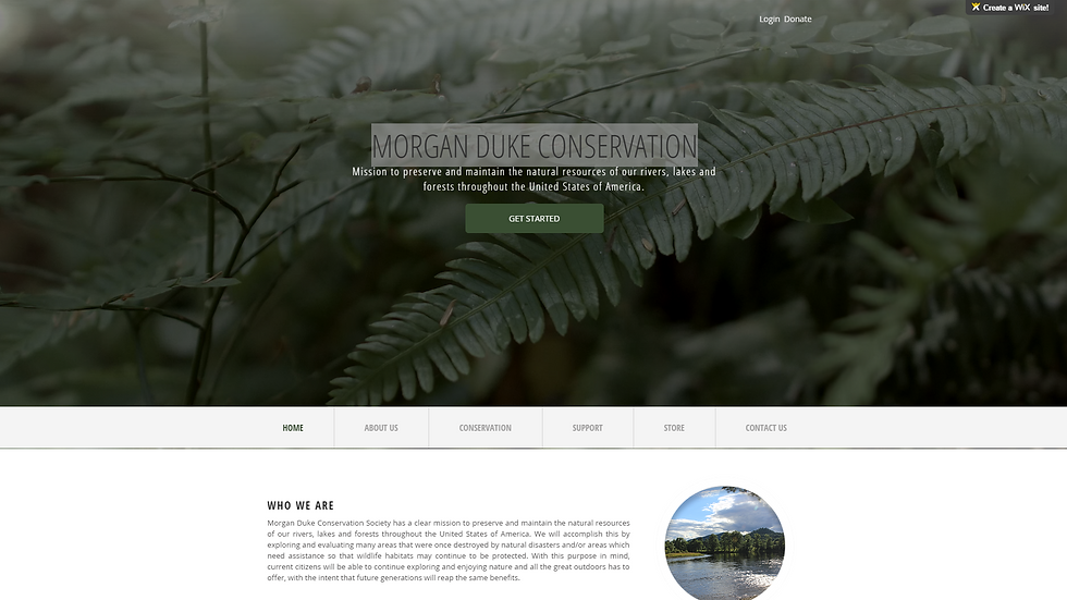 MORGAN DUKE CONSERVATION | APPME - 6 PAGE SITE