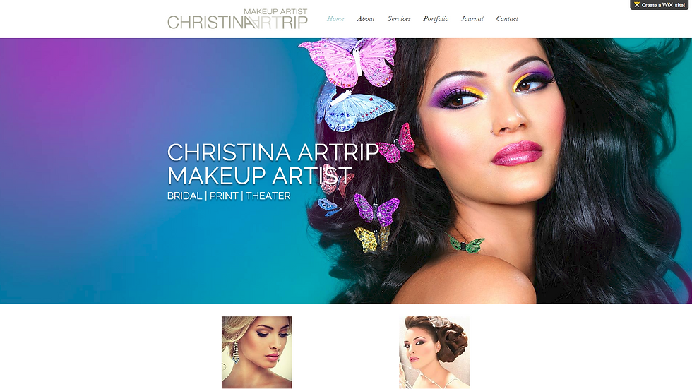 CHRISTINA ARTRIP | APPME - 9 PAGE SITE